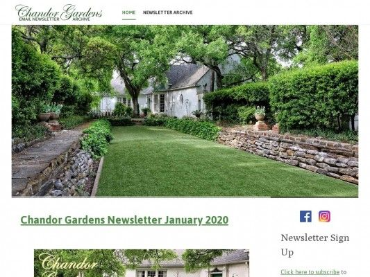 Chandor Gardens News Archive