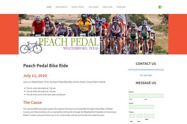 Peach Pedal Bike Ride