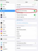 Safari settings for ITP