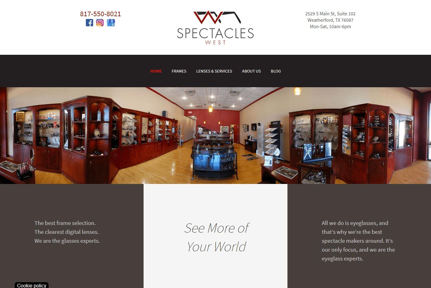 Spectacles West Website